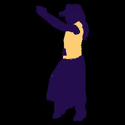 Pose de baile country lady silueta
