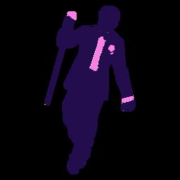 Pose de baile silueta de hombre elegante
