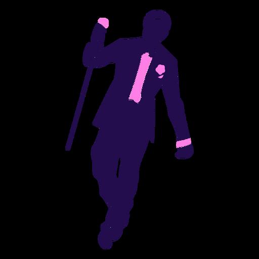 Dance pose elegant man silhouette Transparent PNG