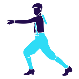 Dance pose hands raised silhouette