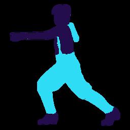 Danza pose manos levantadas silueta