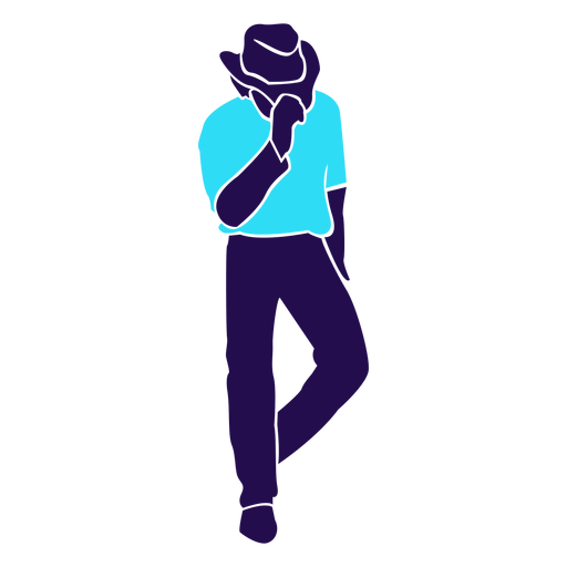 Dance pose hat tip silhouette Transparent PNG