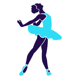Dance pose lady circling silhouette
