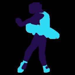 Danza pose dama dando vueltas silueta