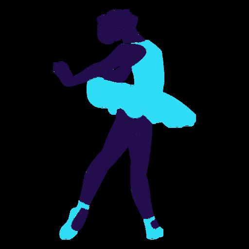 Dança pose senhora circulando silhueta Transparent PNG