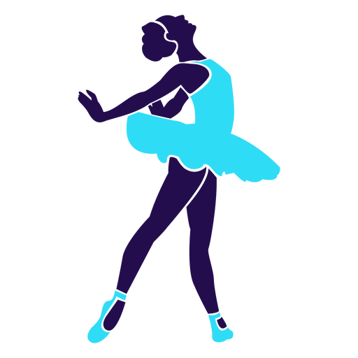 Dance pose lady circling silhouette Transparent PNG