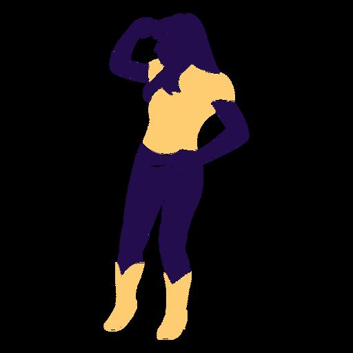 Danza pose dama mirando silueta