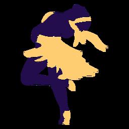 Danza pose dama swing silueta