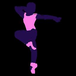 Dança pose senhora ponta dedo do pé silhueta