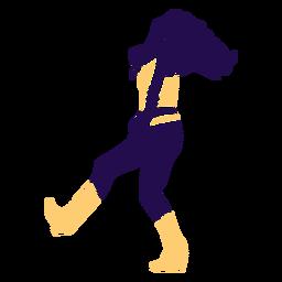 Dança pose senhora andando silhueta