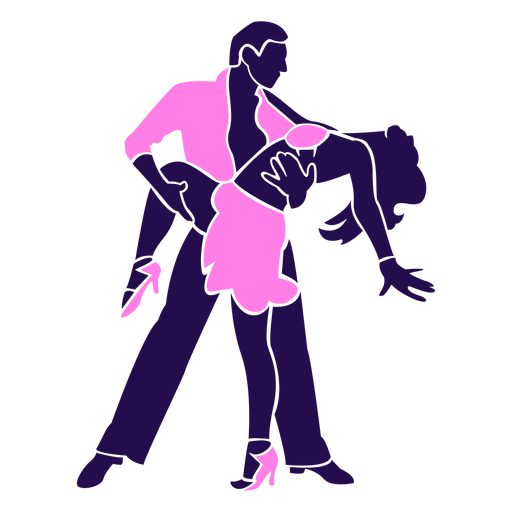 Dance pose leg wrap silhouette Transparent PNG