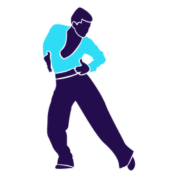 Dance pose man chasse silhouette