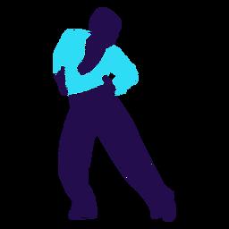 Tanzhaltung Mann Chasse Silhouette