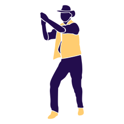 Danza pose hombre aplaudiendo silueta