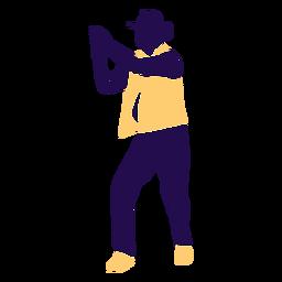 Pose de baile hombre aplaudiendo silueta