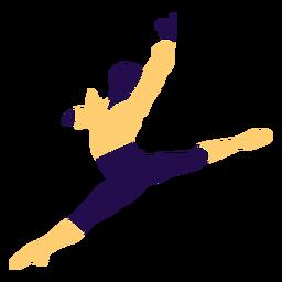 Baile pose hombre salto silueta
