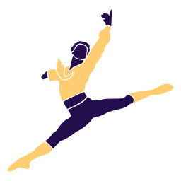 Dance pose man jump silhouette
