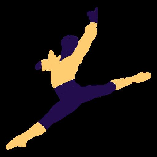 Danza pose hombre salto silueta