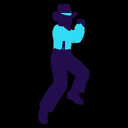 Tanzhaltung Mann Silhouette ausgeführt