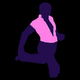 Baile pose hombre sentado silueta