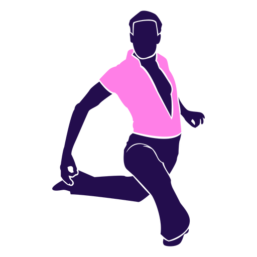Dance pose man sitting silhouette Transparent PNG
