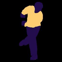 Pose de baile hombre swing silueta