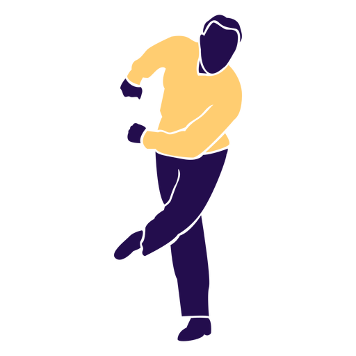 Dance pose man swing silhouette Transparent PNG