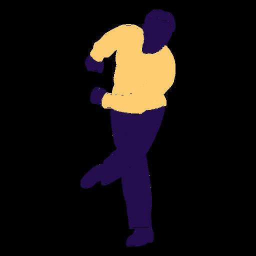 Danza pose hombre swing silueta