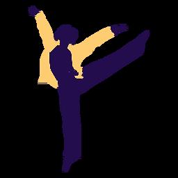 Dance pose man tip toe silhouette