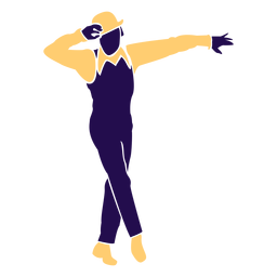 Dance pose moonwalk silhouette