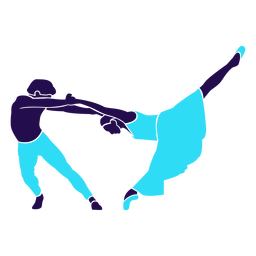 Dance pose swing silhouette