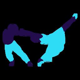 Silhueta de balanço de pose de dança