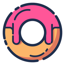 Donut pink syrup icon