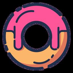 Icono de donut rosa jarabe