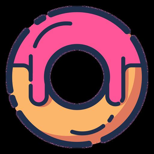 Icono de donut rosa jarabe Transparent PNG