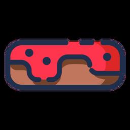 Icono de donut glaseado rojo