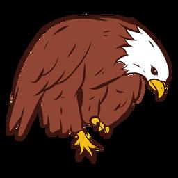 Dibujado a mano águila doblada