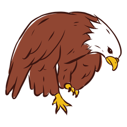 Eagle bent hand drawn