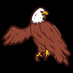 Grito de águila dibujado a mano