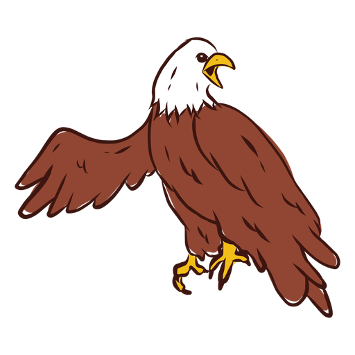 Grito de águila dibujado a mano Transparent PNG