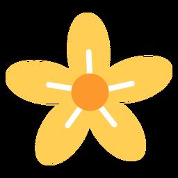 Flor de cinco pétalos plana