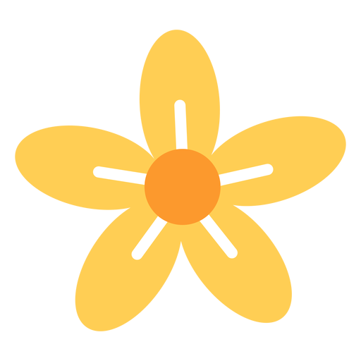 Flor de cinco p?talos plana