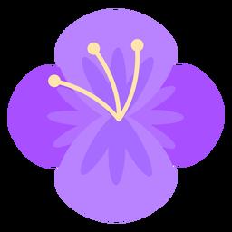 Flor de cuatro pétalos morado plano
