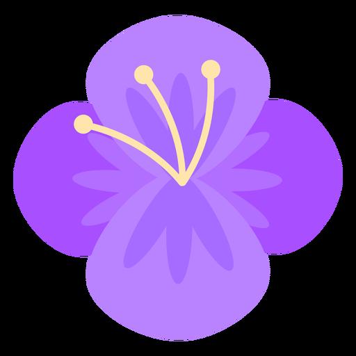 Flor de cuatro p?talos morado plano