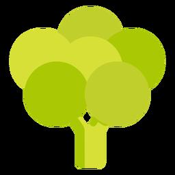 Bulbo de fruta verde plano