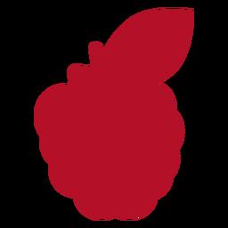 Fruta vermelha plana