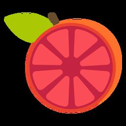 Grapefruit sliced flat