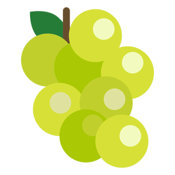 Grapes fruit flat