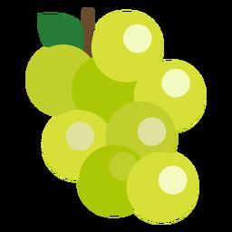 Uvas frutas planas