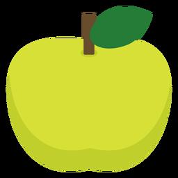 Grüne Apfelfrucht flach